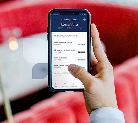 Small business owner managing money on-the-go