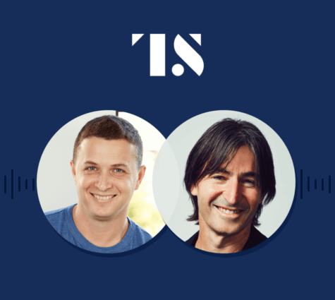 Graphic of Eyal Lifshitz and Guy Goldstein for the Tearsheet Podcast